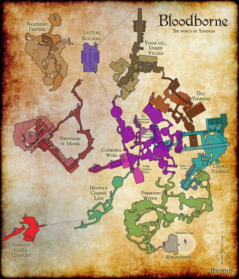 heres  full map  bloodbornes world hardcore gamer