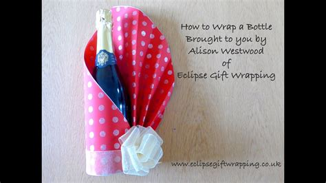How To Gift Wrap A Bottle Of Wine Youtube