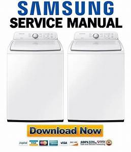 Samsung Wa40j3000aw  A2 Washing Machine Service Manual And