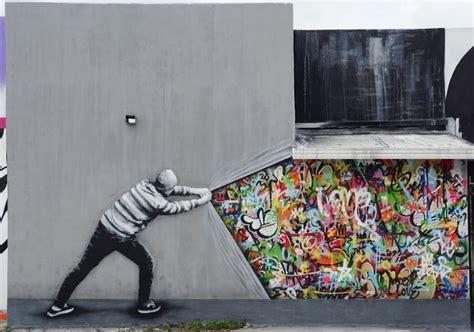 curtain brilliant optical illusion mural