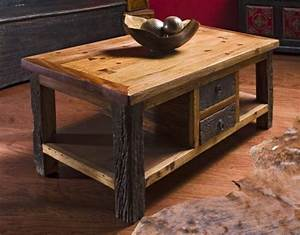 Rustic wood coffee table with drawers reclaimed wood for Rustic beach coffee table