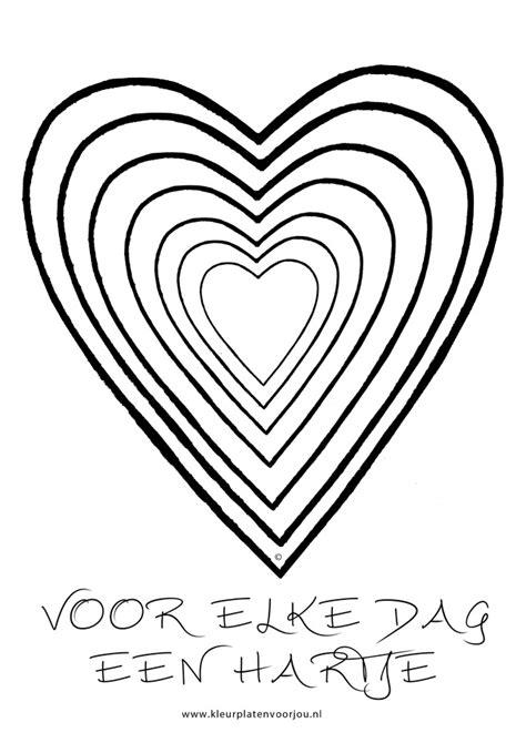 Kleurplaat Hartje by Voor Elke Dag Een Hartje Kleurplaat Kleurplaten Voor Jou