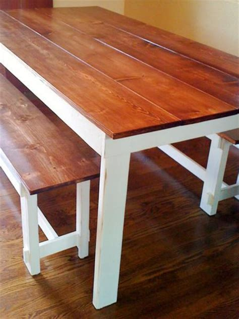 white build a rustic table free and easy diy