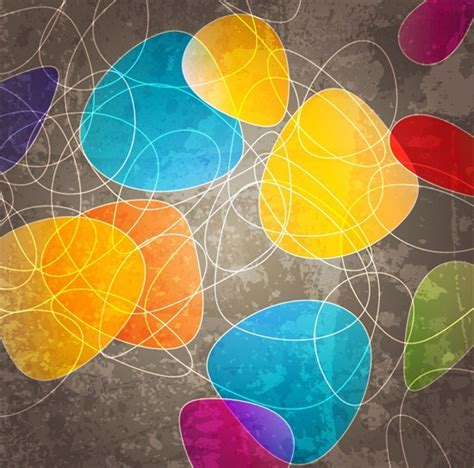 abstract curve shapes background  vector art