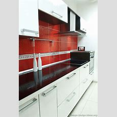 #kitchen Idea Of The Day Modern White Kitchen With A Red