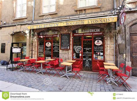 in cuisine lyon restaurant bouchon in lyon editorial photography