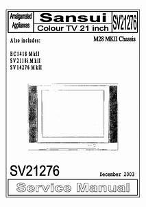 Sansui Tv Circuit Diagram Free Download  With Images