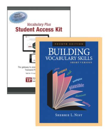 Building Vocabulary Series, Short Version, With Vocabulary Plus  Townsend Press