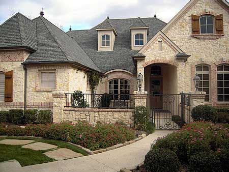 Plan 36180tx French Country Estate With Courtyard Front