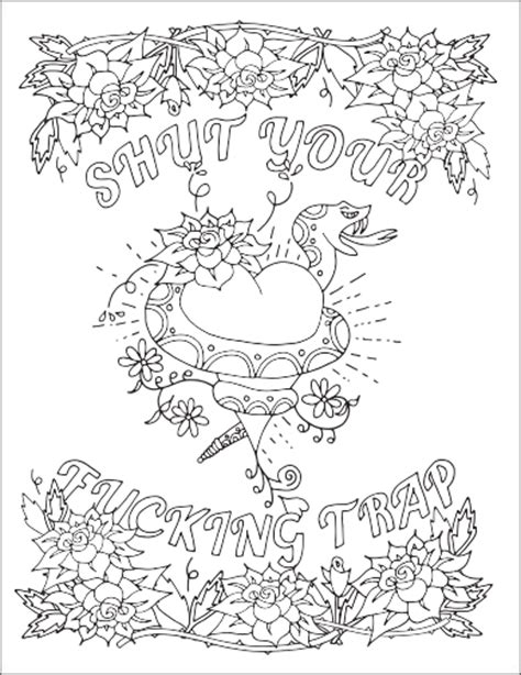 Swear Word Coloring Pages Free Swear Word Coloring Pages For Adults Only Printable