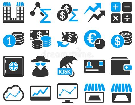 14701 business icon vector accounting service and trade business icon set stock