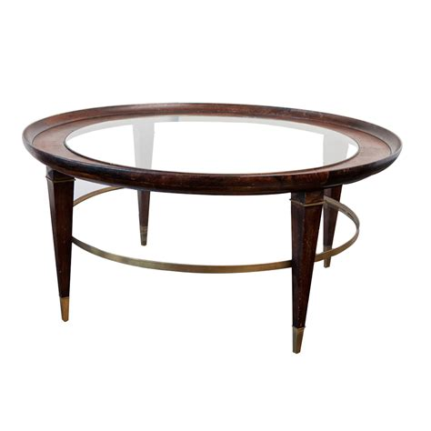 antique glass table ls vintage coffee table in wood glass and brass on antique