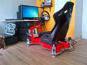 Simulateur Auto Ps4 : human racing gt chassis in red with d box 3 dof motion humanracing d box full motion ~ Farleysfitness.com Idées de Décoration