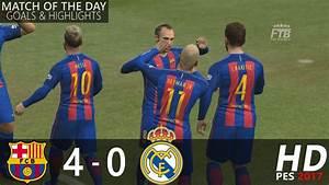 FC BARCELONA vs REAL MADRID 4 0 All Goals