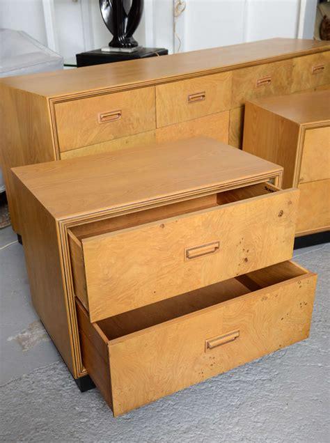 burl wood henredon bedroom set at 1stdibs