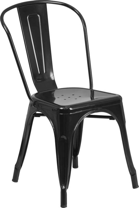 flash furniture black metal chair ebay