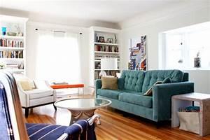 Dcoration Salon Canap Bleu
