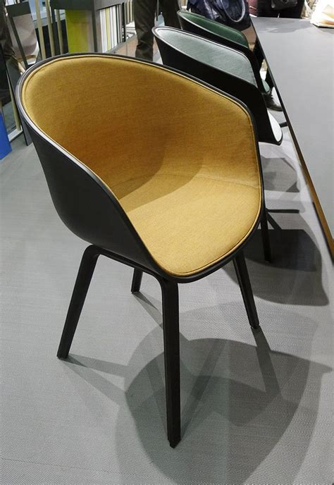 About A Chair by Hay with upholstered seat.   Stockholm