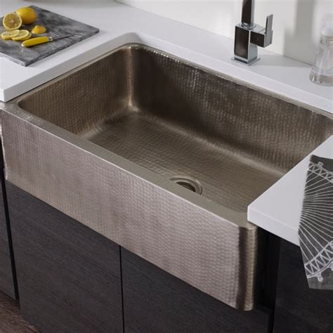 hammered stainless steel farmhouse sink hammered farmhouse sink home design ideas and pictures