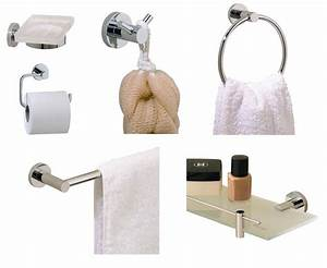 Valsan pp2 6 piece contemporary bathroom accessories set for Valsan bathrooms