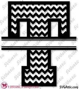 Split Letter Monogram Chevron T