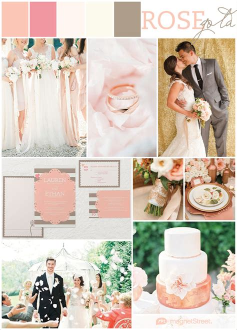blush pink wedding ideas  gorgeous rose gold