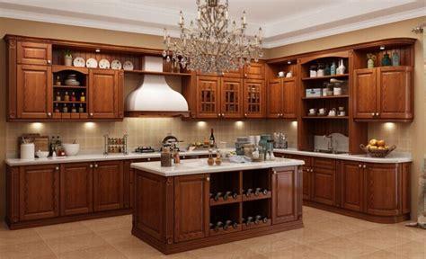 mobilia cuisine mobília de madeira contínua clássica antiga da cozinha do
