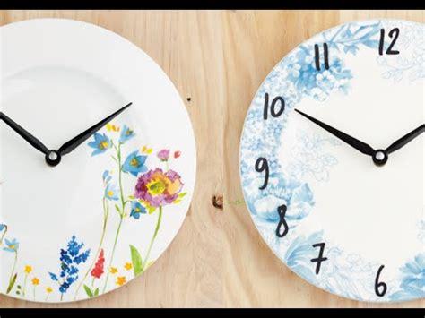 c 243 mo hacer un reloj a partir de un plato how to do a clock with a plate el invernadero