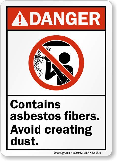 asbestos warning signs asbestos hazard signs