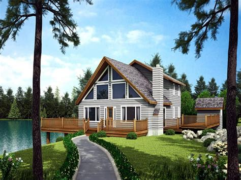 Waterfront Homes House Plans Waterfront House With Narrow Lot Floor Plan, Vacation Home Plans