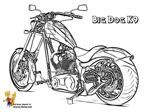 Majestic Motorcycle Coloring Pages
