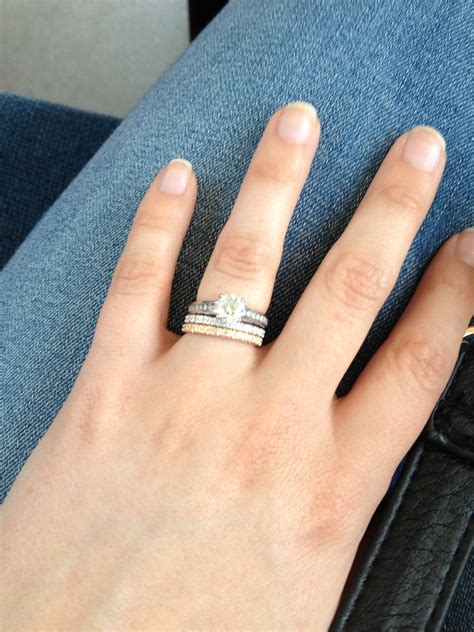 Show Me Your Mismatched Ering And Band!!  Weddingbee. Onyx Stone Engagement Rings. Perfect Couple Wedding Rings. Rugged Men Wedding Wedding Rings. Hexagonal Engagement Rings. Druid Wedding Rings. Ethical Wedding Rings. February Birthstone Rings. Annello Engagement Rings