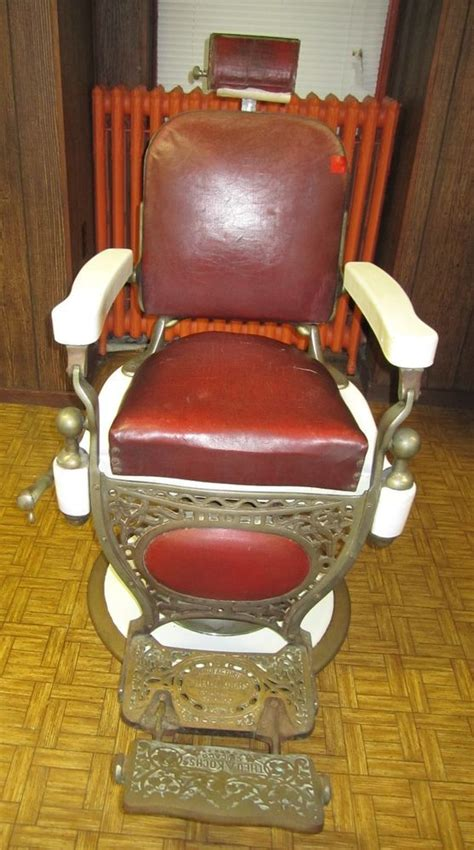 theo a kochs antique vintage barber chair porcelain