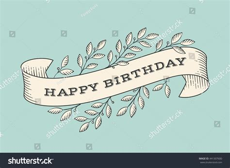 greeting card inscription happy birthday  stock vector