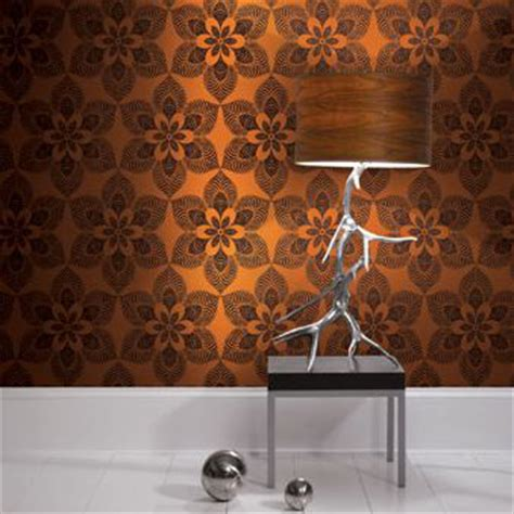 orange wallpaper wall decor source
