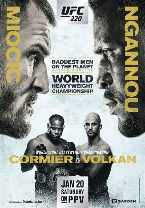 ufc  fight card finalized fightmag
