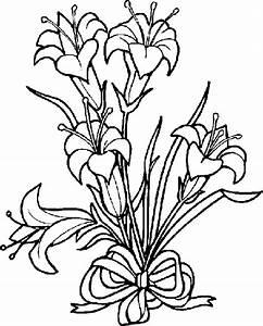 Easter Lily Clipart Black And White - Free Clip Art Images ...