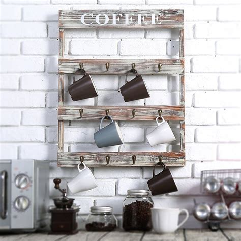 Are 18wide x 29 tall please pick your. Wall Mount Coffee Mug Tea Cup Rack Holder Storage Kitchen ...