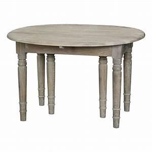 Table Ronde Cuisine : table ronde cuisine avec rallonges table de lit ~ Teatrodelosmanantiales.com Idées de Décoration