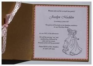 diy princess invitations diy invitations for your little With sending wedding invitations to disney princesses
