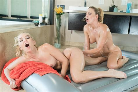 Aaliyah Love And Cherie Deville Give Each Other A Hot Nuru