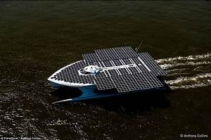 World's largest solar-powered boat powers arrives in ...