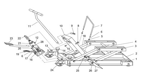 sip 03634 680kg motorcycle jack diagram
