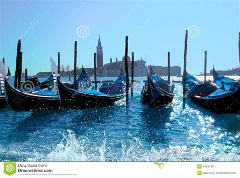 Boat Prices In Venice by Gondola Boats In Venice Harbor Stock Photo Image 9134140