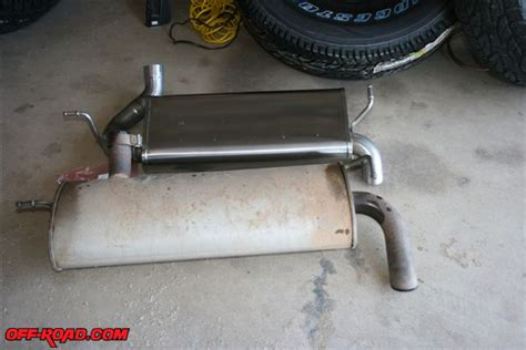 jeep stock exhaust jeep jk db performance exhaust installation off road com