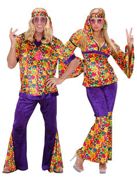 hippie bloemen bloemen hippie koppelkostuum voor volwassenen