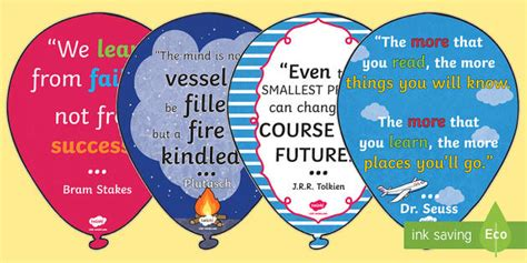 inspirational quote balloons display pack classroom learning inspirational