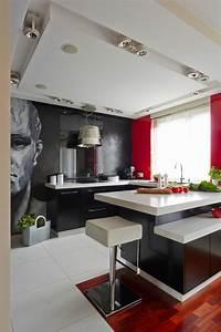 deco maison en rouge pour un appartement moderne vivons With maison deco cuisine