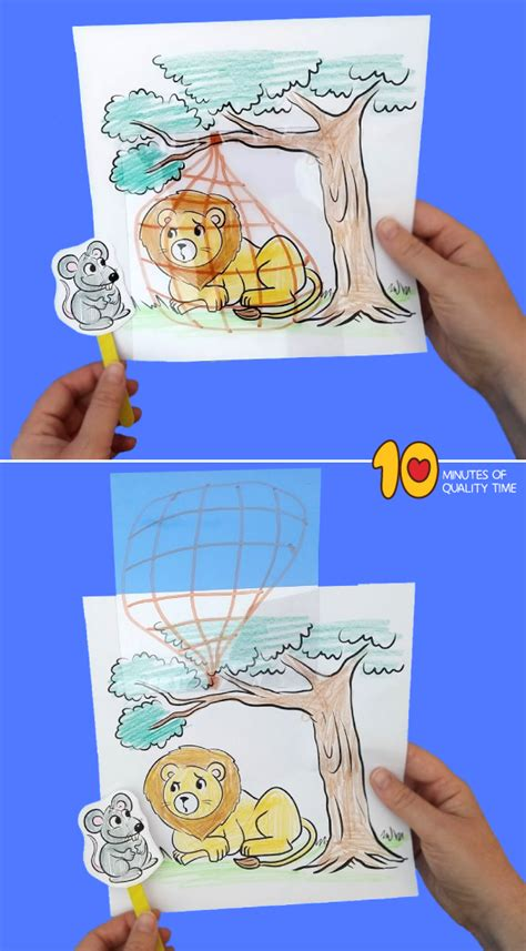 lion   mouse craft  minutes  quality time