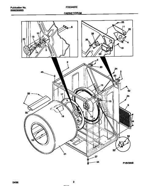 frigidaire electric dryer 5995280863 cabinet drum parts fde546res0 searspartsdirect
